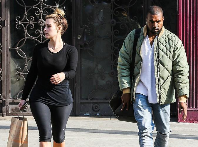 Kim Kardashian et Kanye West à Los Angeles le 3 janvier 2014