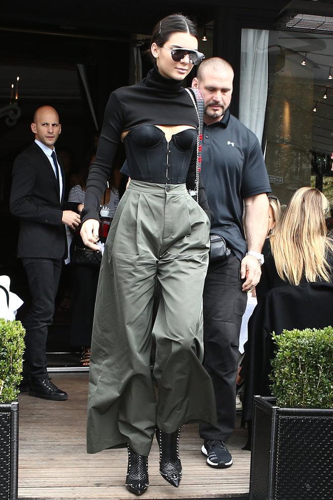 Kendall Jenner à Paris le 2 octobre 2016