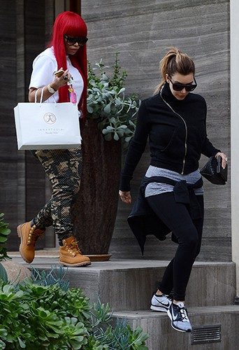 Kim Kardashian et Blac Chyna à Los Angeles le 15 décembre 2013