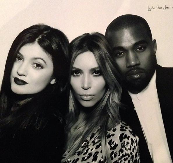 Kylie, Kim et Kanye West !