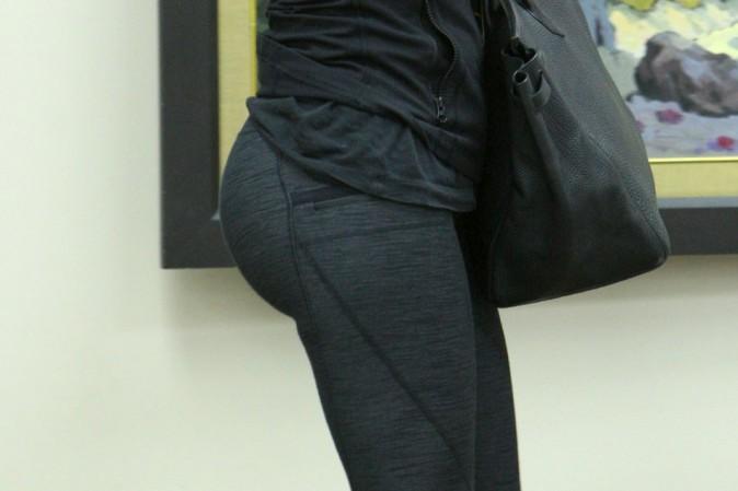 En legging moulant, un effet moyennement réussi...