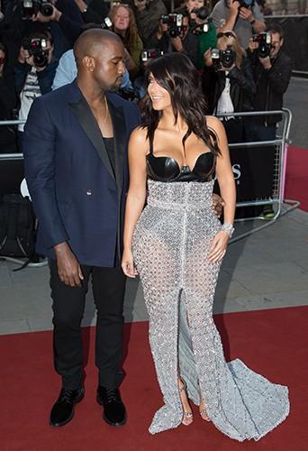 Kanye West et Kim Kardashian à Londres le 2 septembre 2014