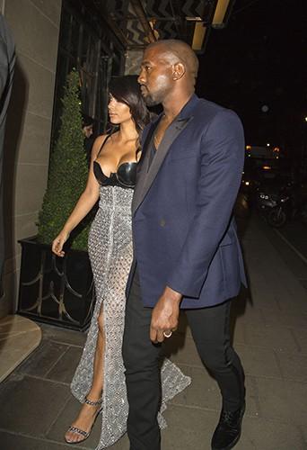 Kim Kardashian et Kanye West à Londres le 2 septembre 2014