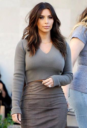 Kim Kardashian à Los Angeles le 1er février 2014