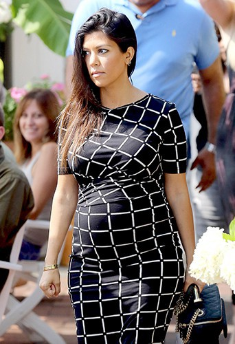 Kourtney Kardashian à New York le 11 août 2014