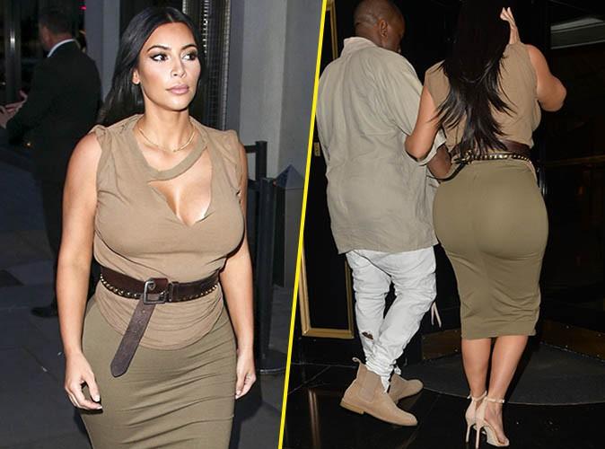 photos kim kardashian sait mettre ses formes de grossesse en valeur. Black Bedroom Furniture Sets. Home Design Ideas