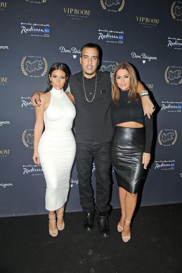 Kim Kardashian et French Montana au VIP Room d'Abu Dhabi le 23 novembre 2014