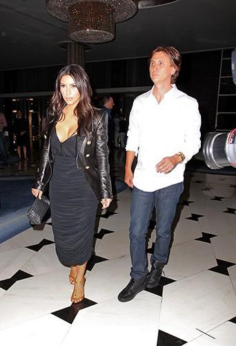 Kim Kardashian et Jonathan Cheban à Miami le 11 mars 2014