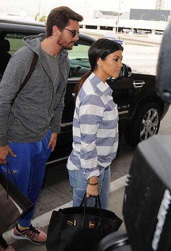 Scott Disick et Kourtney Kardashian à Los Angeles le 11 mars 2014