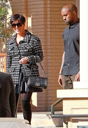 Kanye West et Kris Jenner à Los Angeles le 11 décembre 2013