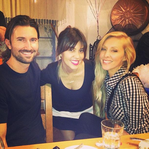 Kourtney Kardashian et ses amis Brandon et Leah