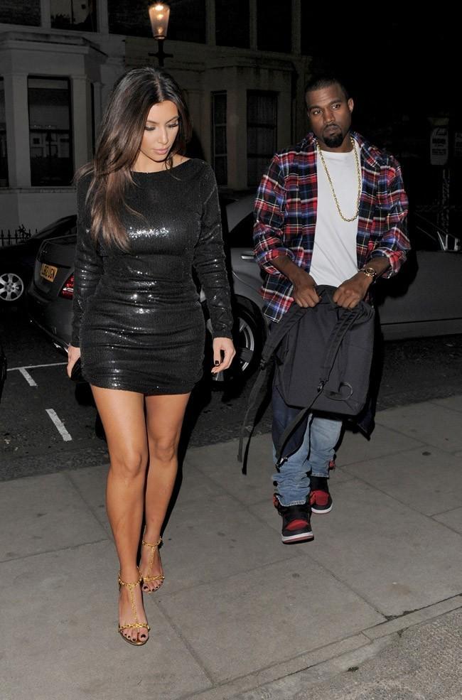 Kim Kardashian et Kanye West à Londres le 8 novembre 2012