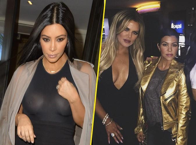 Photos : Kim Kardashian : tétons de sortie pour les 31 ans de Khloe !