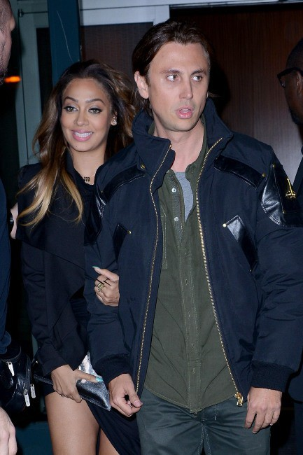 Lala Vasquez et Jonathan Cheeban au Barclays Center à Brooklyn, le 19 novembre 2013.