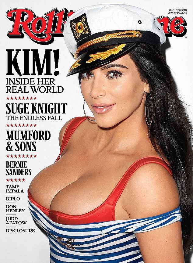 Kim Kardashian en couverture de Rolling Stone