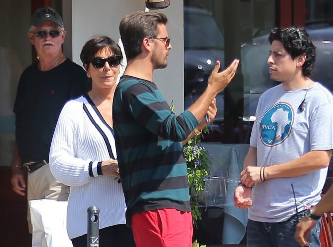Scott Disick et Kris Jenner aux Hamptons le 3 juillet 2014