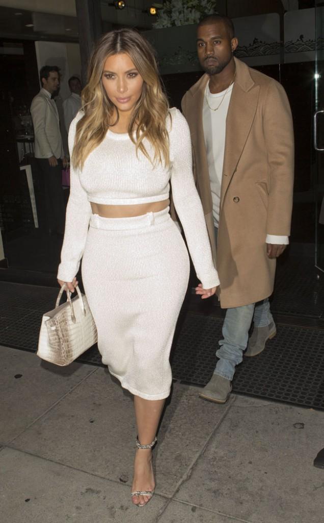 Kim Kardahian et Kanye West à Beverly Hills le 12 janvier 2014