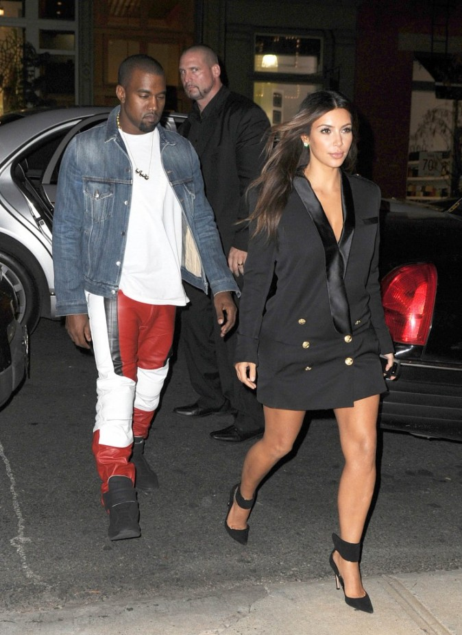 Kim Kardashian et Kanye West à New York, le 13 septembre 2012.