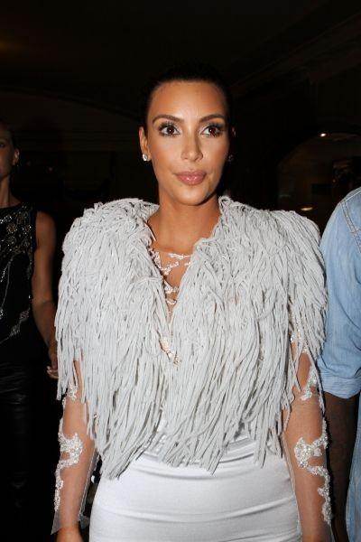 Kim Kardashian lors du défilé Marchesa à New York, le 12 septembre 2012.