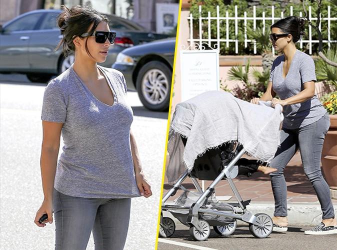 Kim Kardashian : un vrai look de maman poule relax !