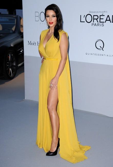Kim Kardashian lors du gala de l'amfAR 2012 à Antibes, le 24 mai 2012.