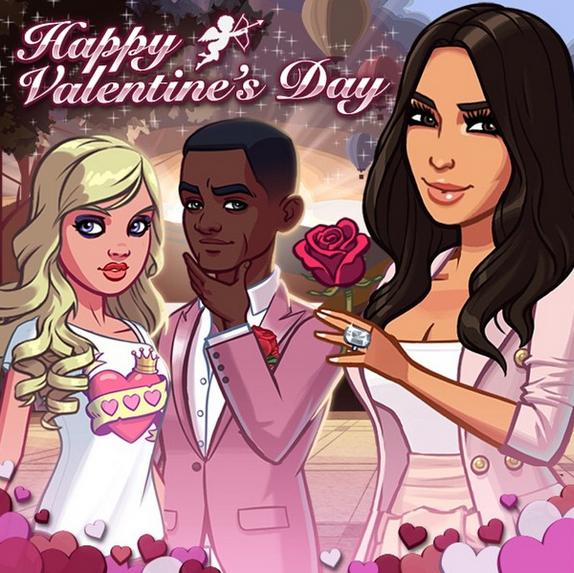 """Kim Kardashian : """"Joyeuse Saint Valentin"""""""