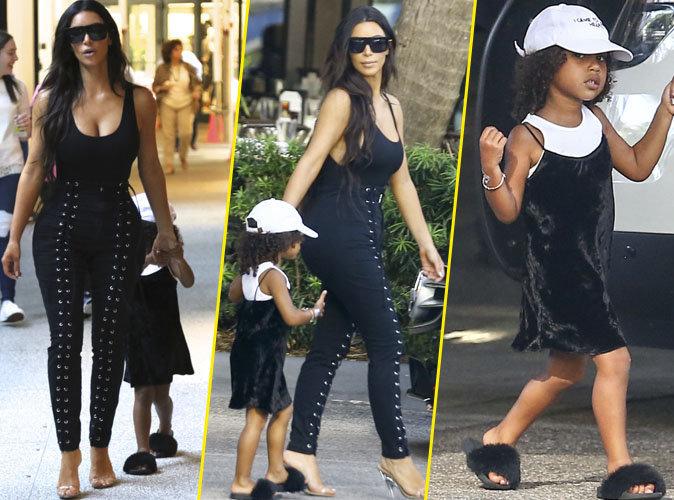 Kim Kardashian : vir�e shopping avec sa fille North West � Miami