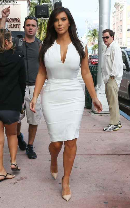 Kim Kardashian, Miami, 15 décembre 2012.
