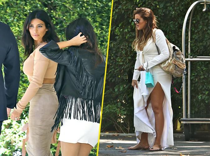 Kim, Kourtney et Khlo� Kardashian : ins�parables pour se rendre � la baby shower d'une amie !
