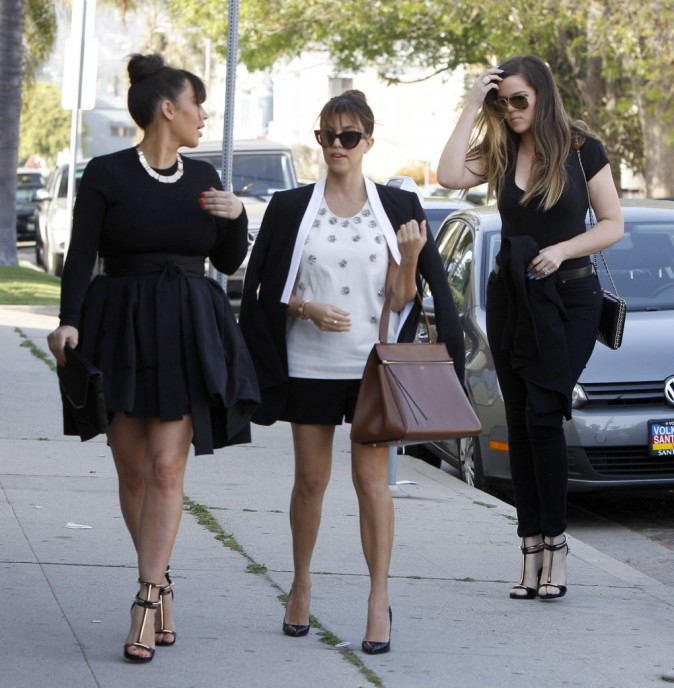 Kim, Khloe et Kourtney Kardashian, West Hollywood, 22 mars 2013
