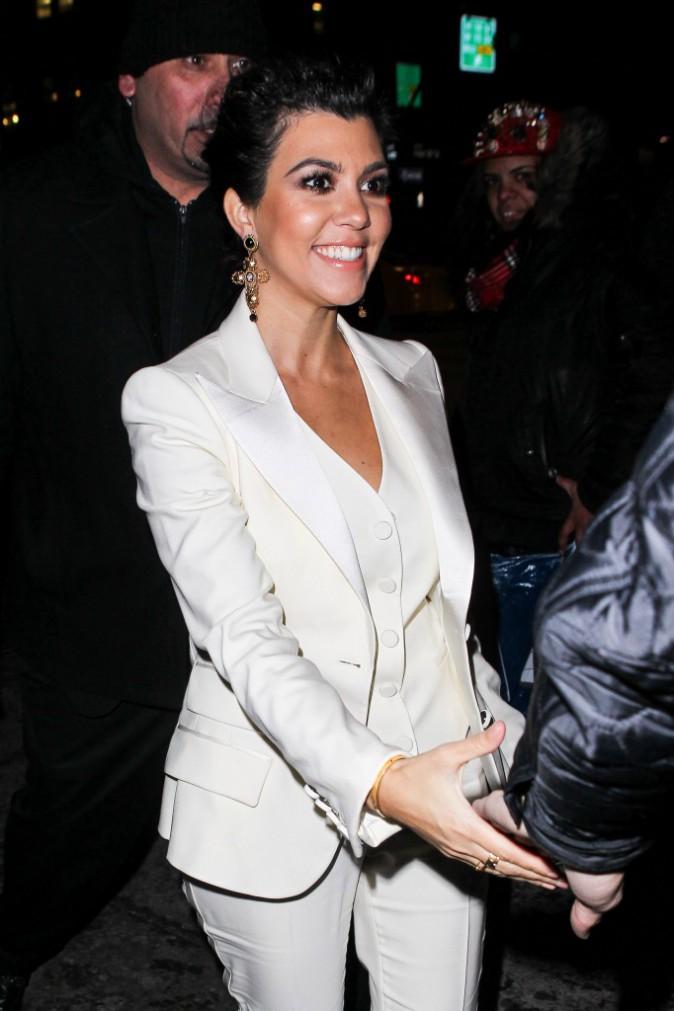 Kourtney Kardashian à New York, le 16 février 2014.