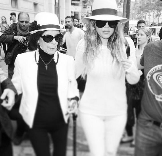 Khloe Kardashian et sa grand-mère