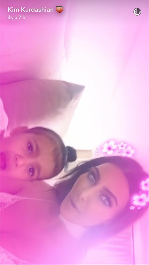 Kim et North s'amusent sur SnapChat !