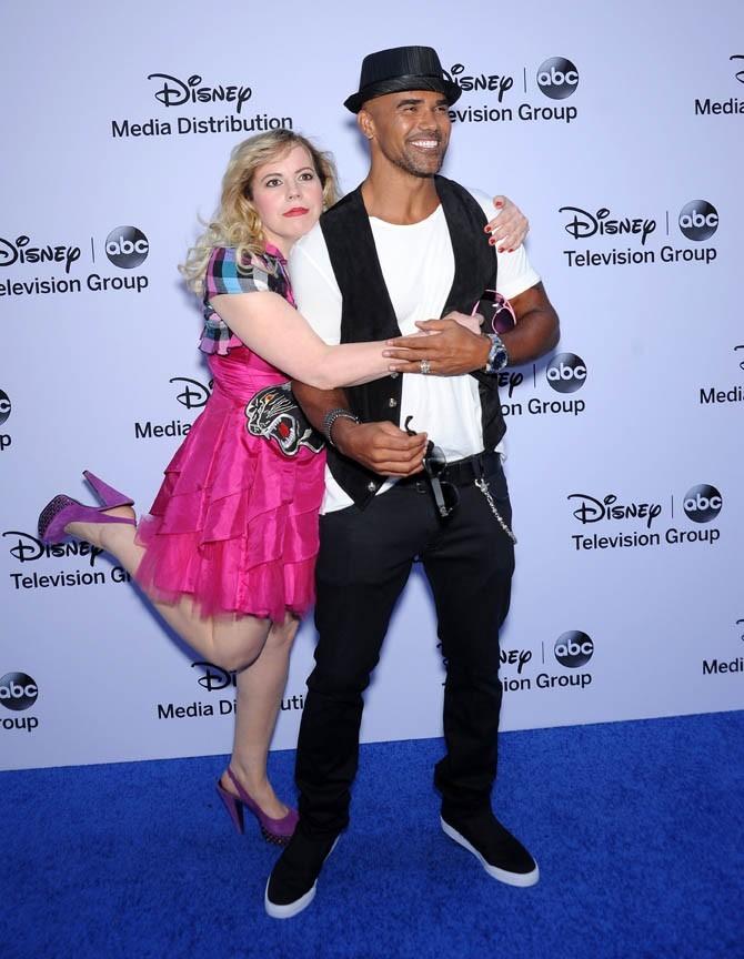 Kirsten Vangsness et Shemar Moore aux studios Disney de Burbnk, Californie, le 19 mai 2013