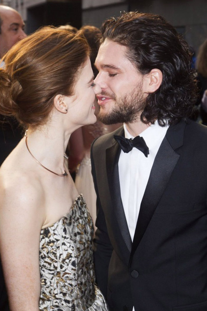 Rose Leslie et Kit Harington le 3 avril 2016