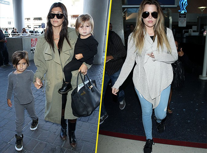 Kourtney et Khloé Kardashian à Los Angeles le 18 mai 2014