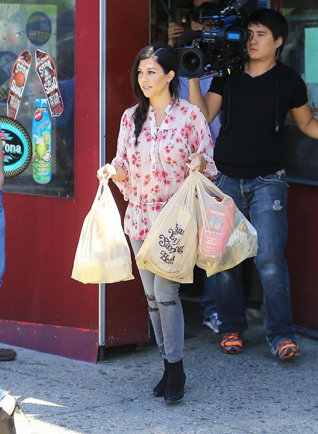 Kourtney Kardashian dans les Hamptons le 2 juin 2014