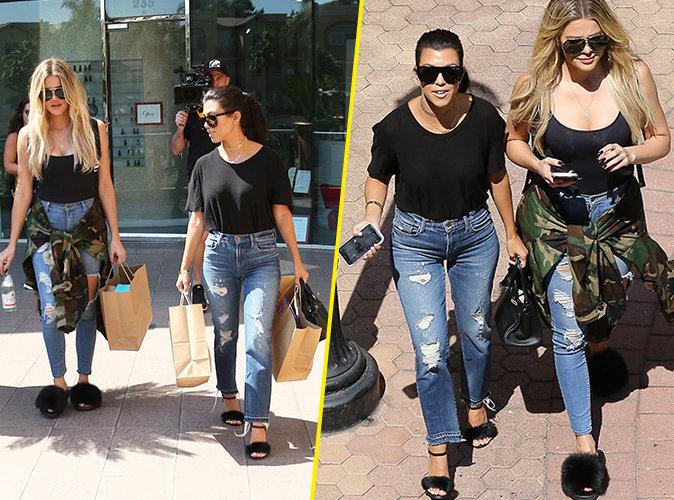 Photos : Kourtney et Khloé Kardashian : Les deux soeurs célibataires se la jouent matching couple !