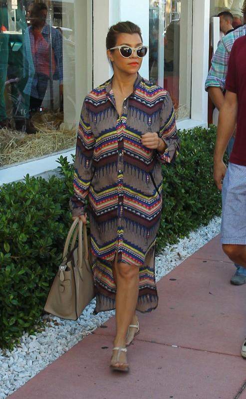 Kourtney Kardashian à Miami, le 19 septembre 2012.