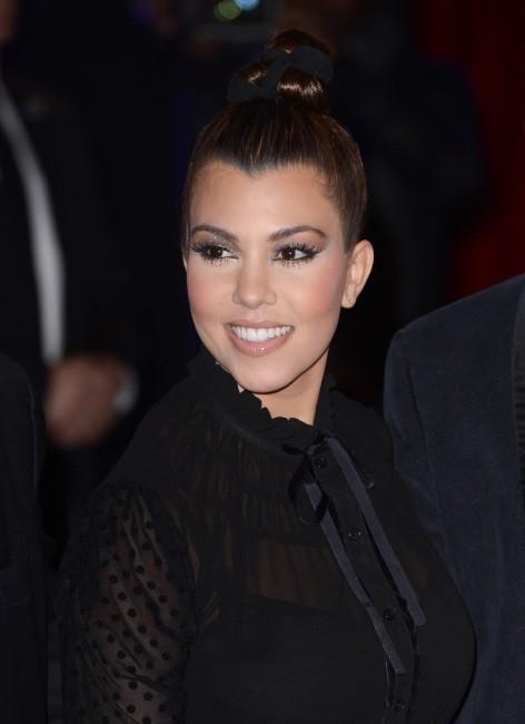 Kourtney Kardashian lors du lancement de leur nouvelle collection de vêtements à Londres, le 8 novembre 2012.