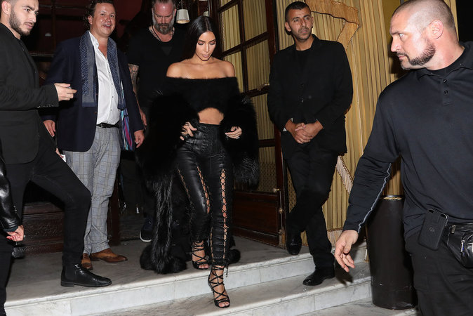 Kim Kardashian à Paris le 30 septembre 2016