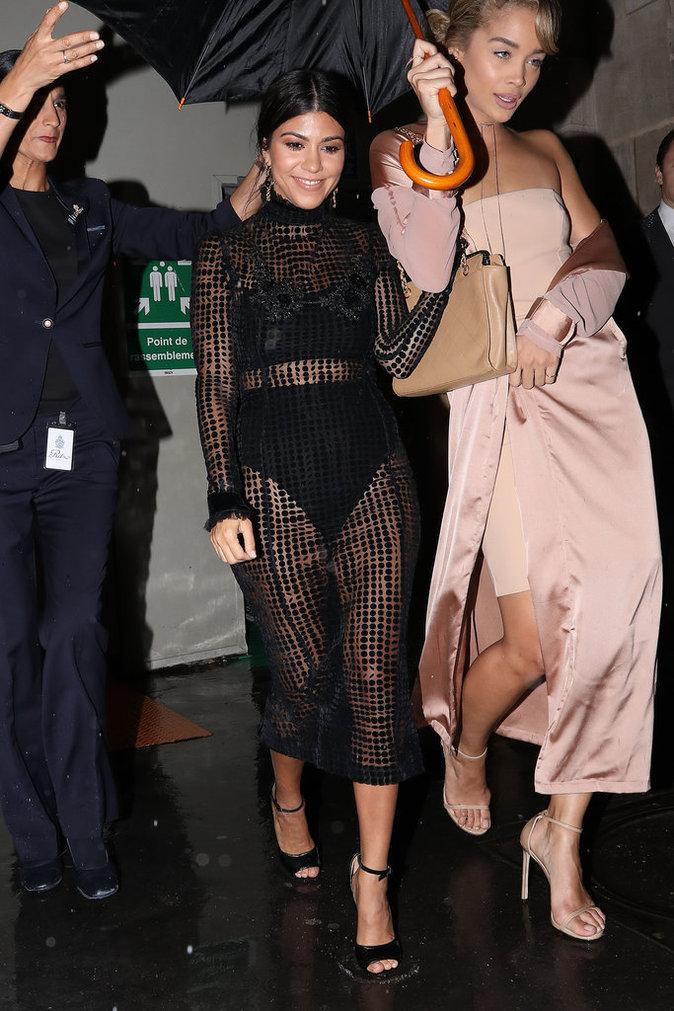 Kourtney Kardashian et Jasmine Sanders à Paris le 30 septembre 2016