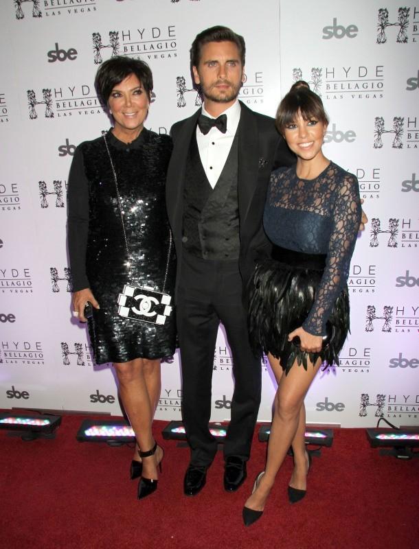Kourtney Kardashian, Kris Jenner et Scott Disick le 26 mai 2013 à Las Vegas