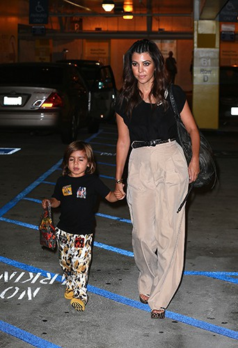 Kourtney Kardashian et sa famille à Westwood le 15 août 2013