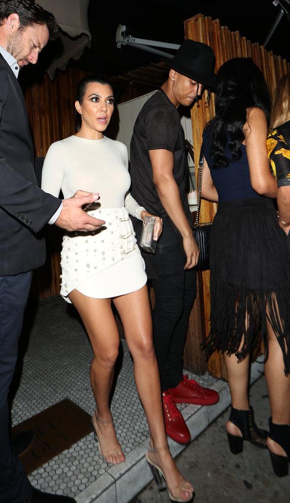 Kourtney Kardashian et Quincy Brown à Los Angeles le 28 juin 2016