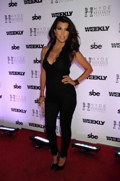 Kourtney Kardashian lors d'une soirée au Bellagio à Las Vegas, le 31 août 2013.
