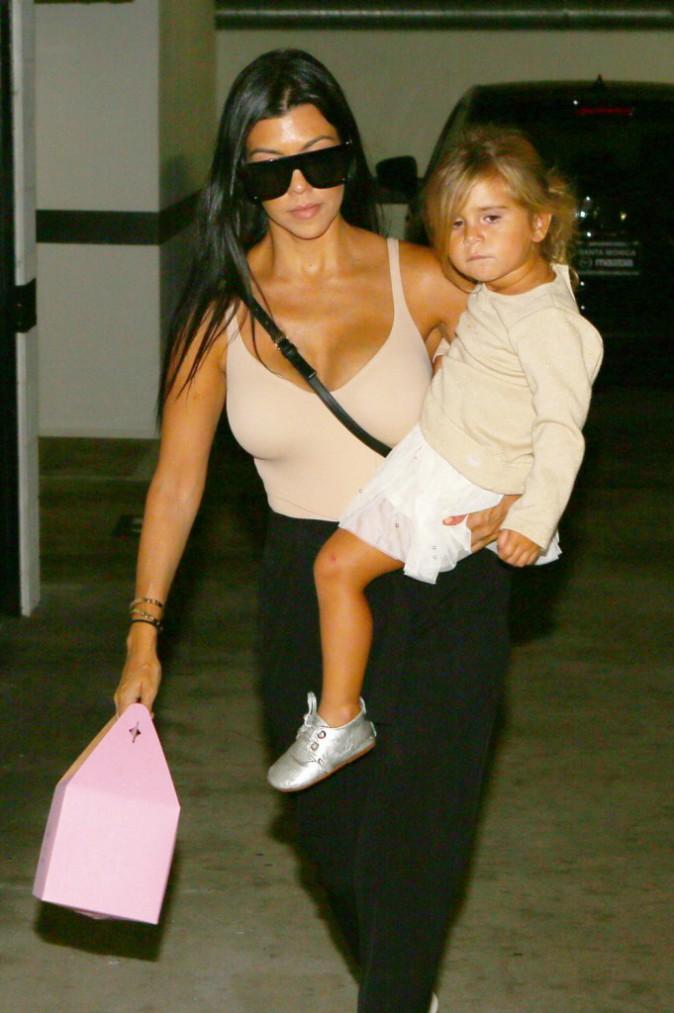 Kourtney Kardashian et ses enfants le 1er septembre 2015