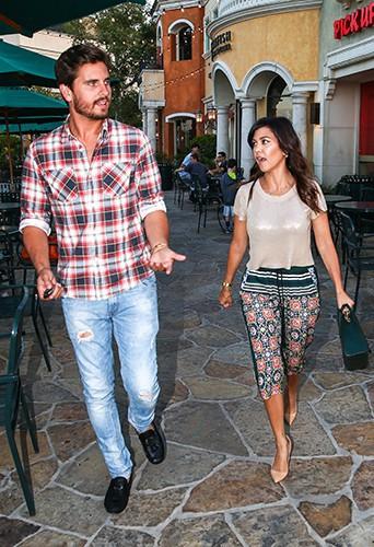 Kourtney Kardashian et Scott Disick à Calabasas le 12 août 2013