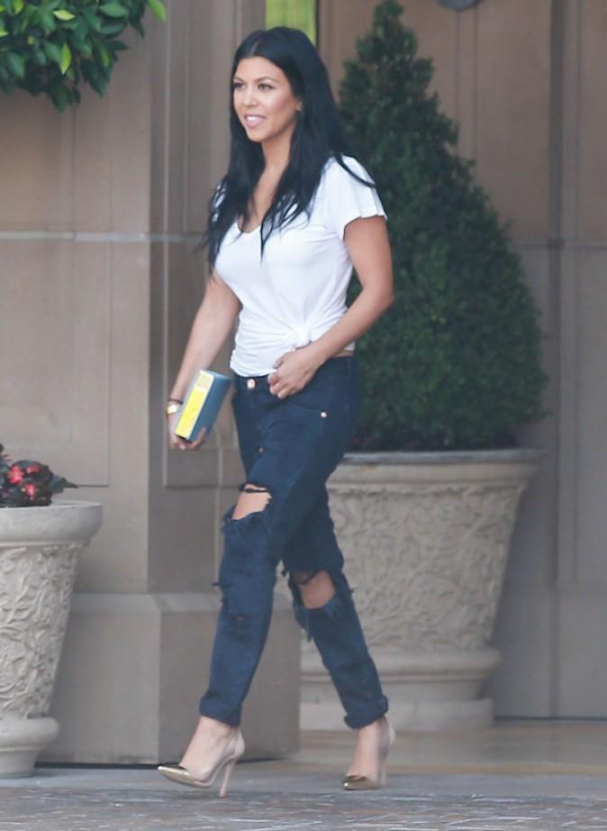 Kourtney Kardashian : Elle fait bonne figure pendant que Khloé s'occupe de Penelope et North !