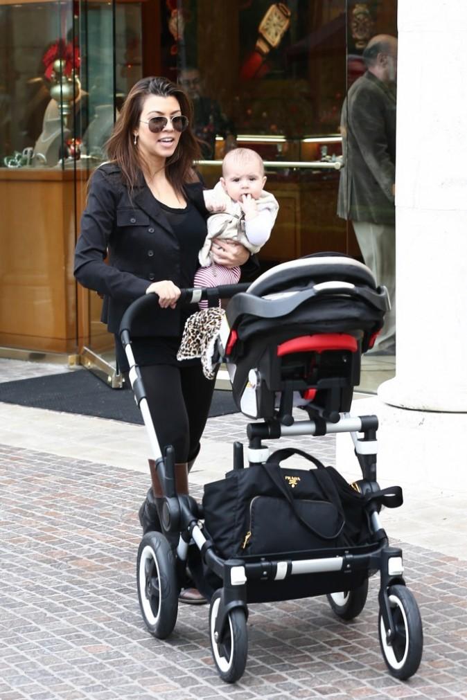Kourtney Kardashian en famille à Los Angeles le 22 décembre 2012